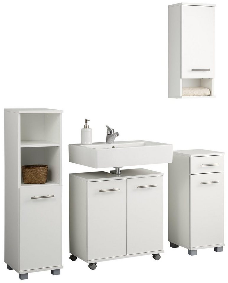 Badmöbel-Set, Schildmeyer, »Emmi« (4-tlg.) in weiß glatt