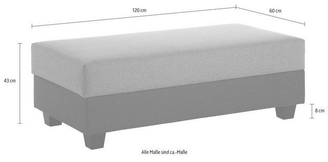 TRENDMANUFAKTUR Hocker, mit Stauraumfach | Wohnzimmer > Hocker & Poufs > Sitzhocker | Blau | TRENDMANUFAKTUR