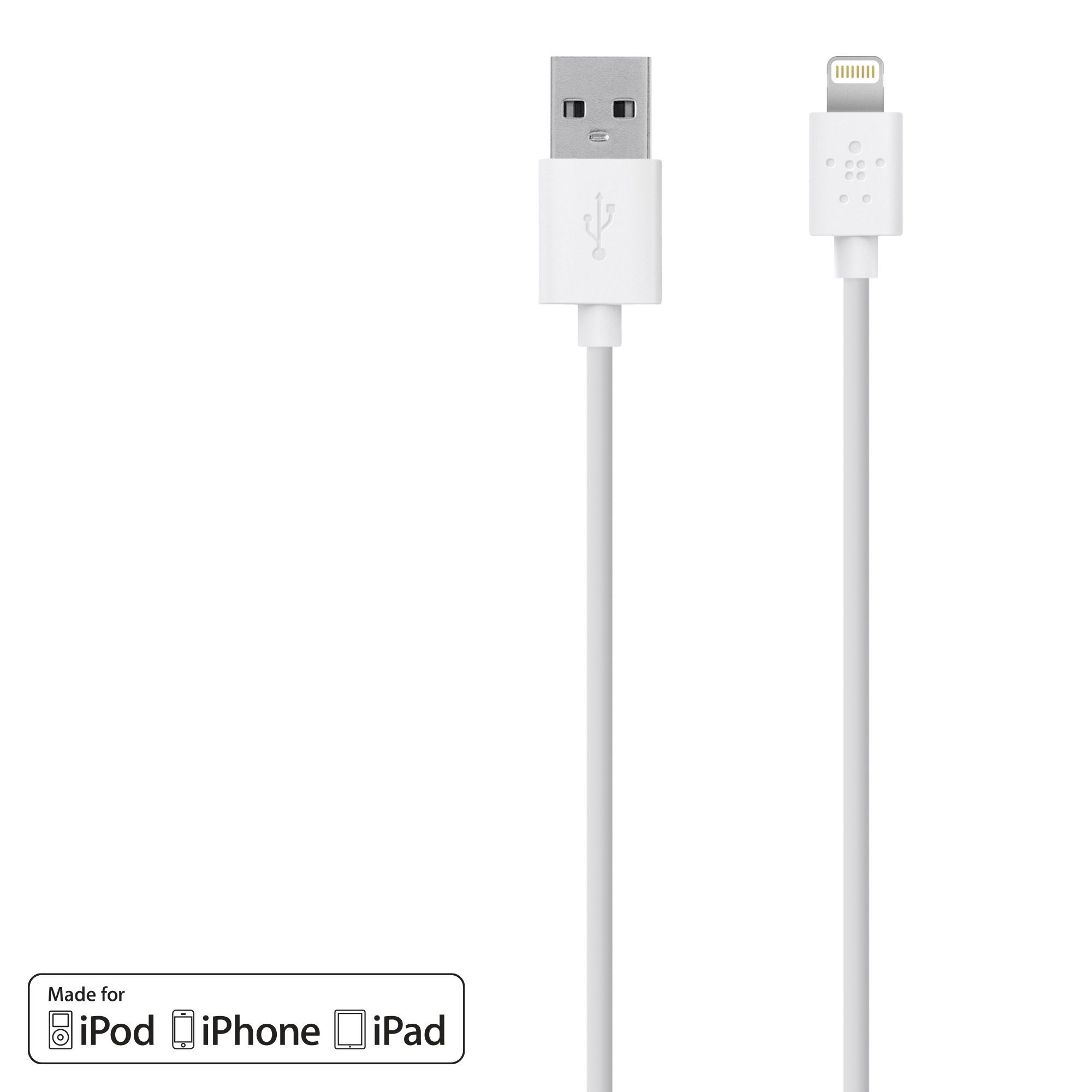 BELKIN Netzteil »CABLE CHARGE SYNC LIGHTNING - F8J023BT3M-WHT«
