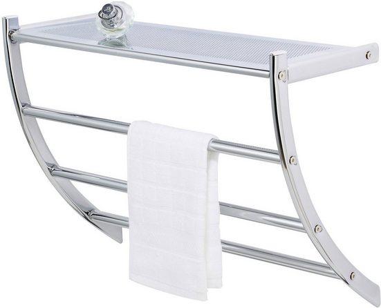 WENKO Handtuchhalter »Pescara«, Exclusiv Wandregal mit Handtuchhalter