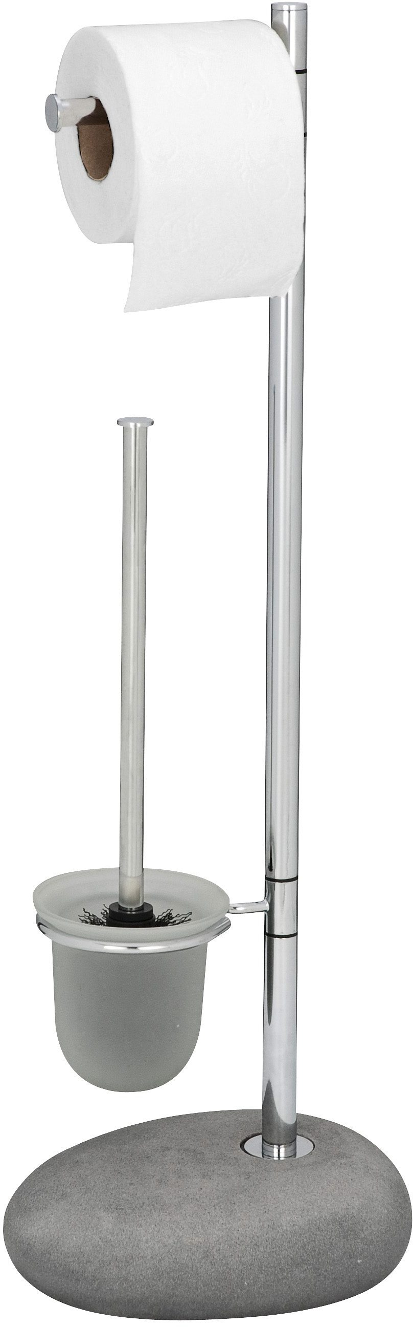 WENKO Stand WC-Garnitur Pebble Stone Grey