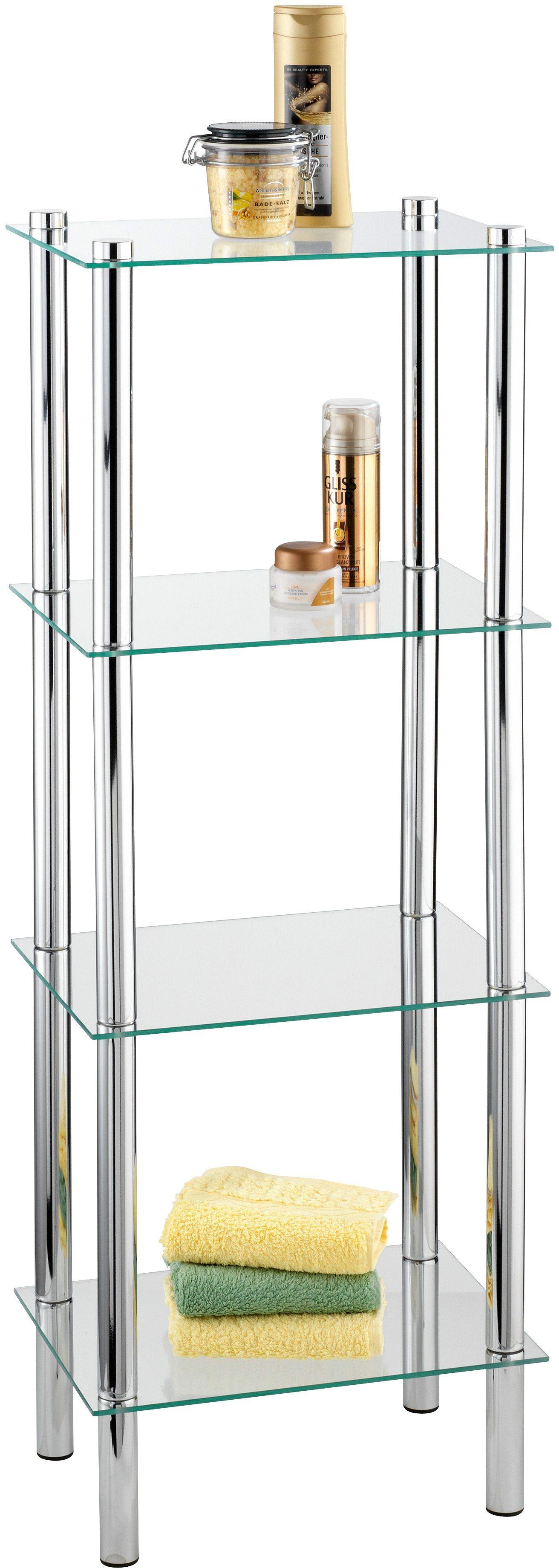 WENKO Regal Yago viereckig mit 4 Glasablagen