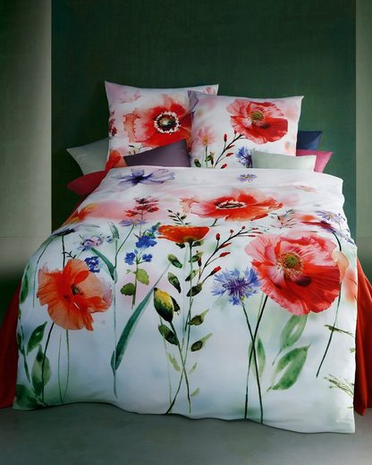 Bettwäsche »Blooming Meadow«, Kaeppel, mit großen Mohnblumen