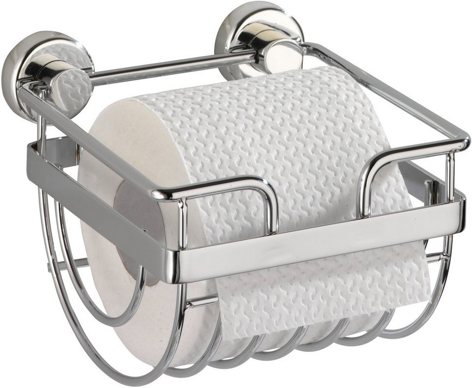 WENKO Power-Loc WC-Rollenhalter Sion, Befestigen ohne bohren