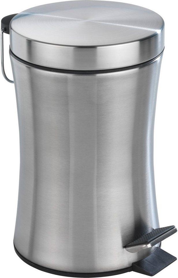 WENKO Kosmetik-Treteimer Pieno, 3 Liter, Edelstahl rostfrei