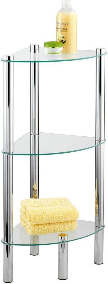 WENKO Eckregal Yago mit 3 Glasablagen
