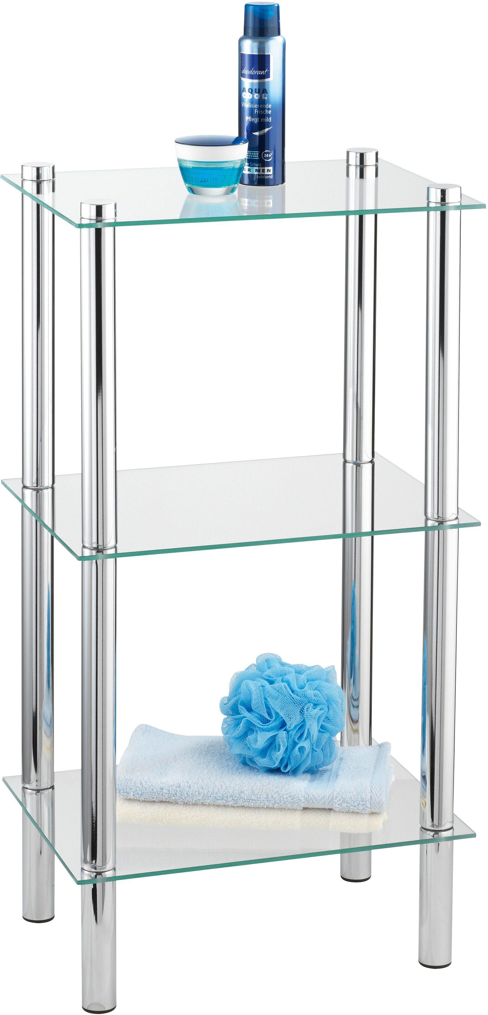 WENKO Regal Yago viereckig mit 3 Glasablagen