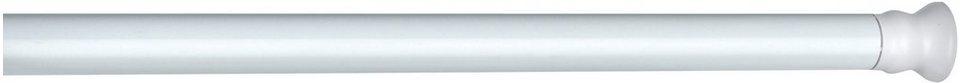 WENKO Teleskop Duschstange extra stark Weiß, 110 - 185 cm