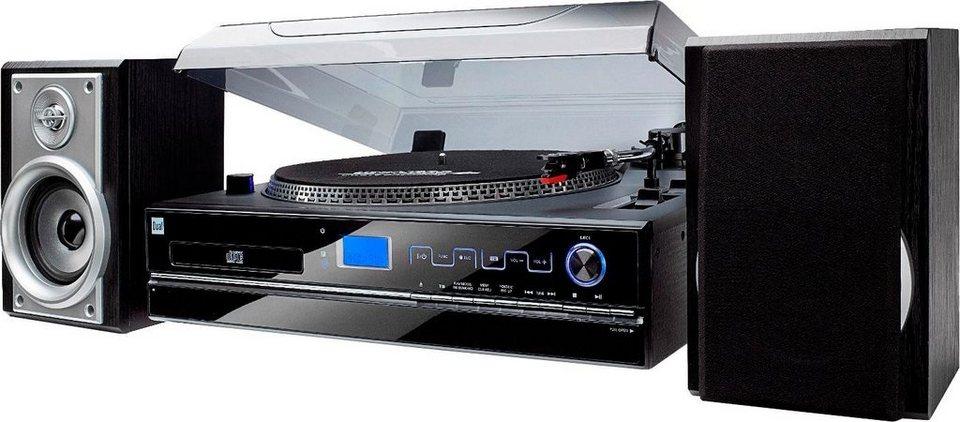 dual nr100 microanlage plattenspieler cd player kassette radio online kaufen otto. Black Bedroom Furniture Sets. Home Design Ideas