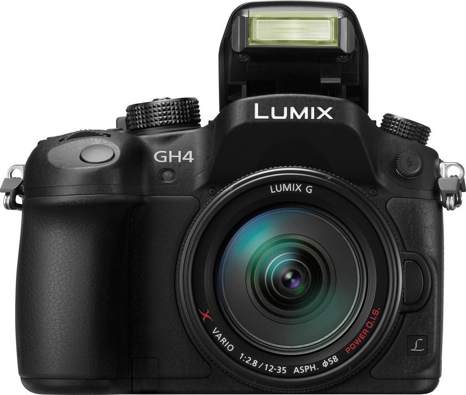 Lumix Panasonic DMC-GH4AEG-K System Kamera, Lumix G X Vario 12-35 F2.8 ASPH. Zoom, 16 Megapixel in schwarz