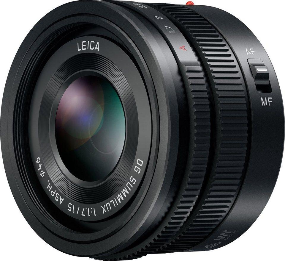 Lumix Panasonic H-X015E Festbrennweite Objektiv in schwarz