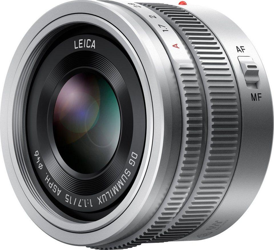 Lumix Panasonic H-X015E Festbrennweite Objektiv in silberfarben