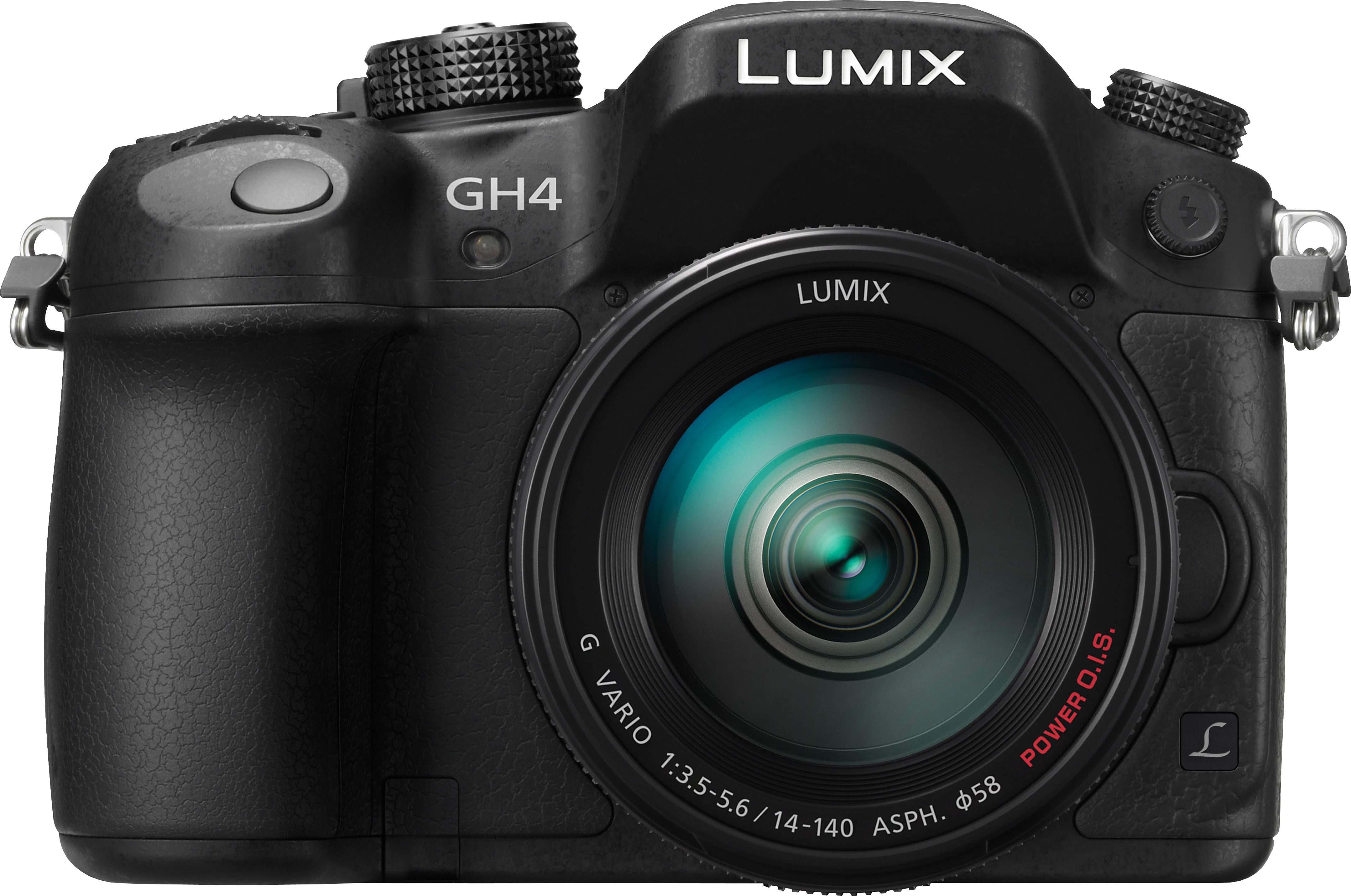 Lumix Panasonic DMC-GH4HEG-K System Kamera, LUMIX G VARIO 14-140 F3.5-5.6 ASPH. Zoom, 16 Megapixel