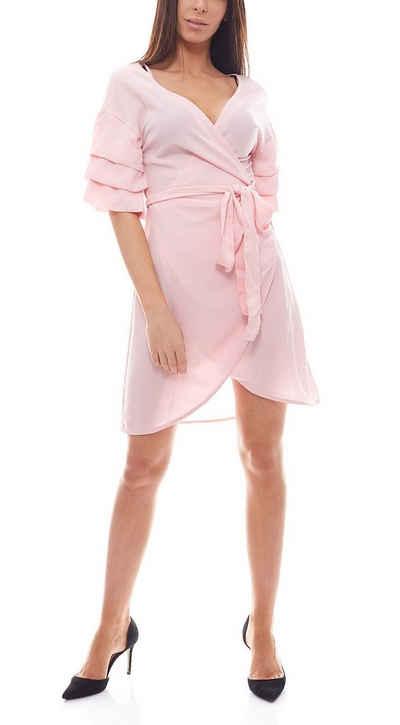 NA-KD Off-Shoulder-Kleid »NA-KD x KRISTIN SUNDBERG Off Shoulder-Kleid elegantes Party-Kleid kurz Mini-Kleid Rosa«
