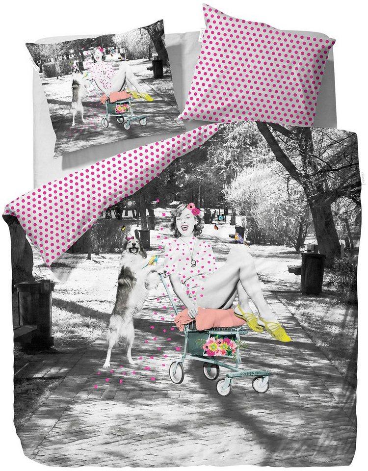 Wendebettwäsche, Covers & Co, »Liz«, im Vintage Design in multi