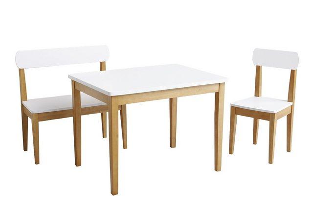 Sitzmöbel - roba® Kindersitzgruppe »Weiß Natur«, (3 tlg)  - Onlineshop OTTO