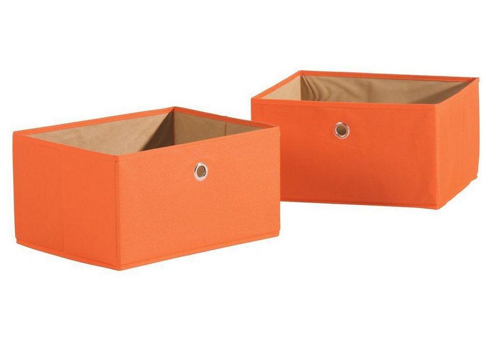 Aufbewahrungskisten, »Canvas-Boxen - 2er Set«, Roba