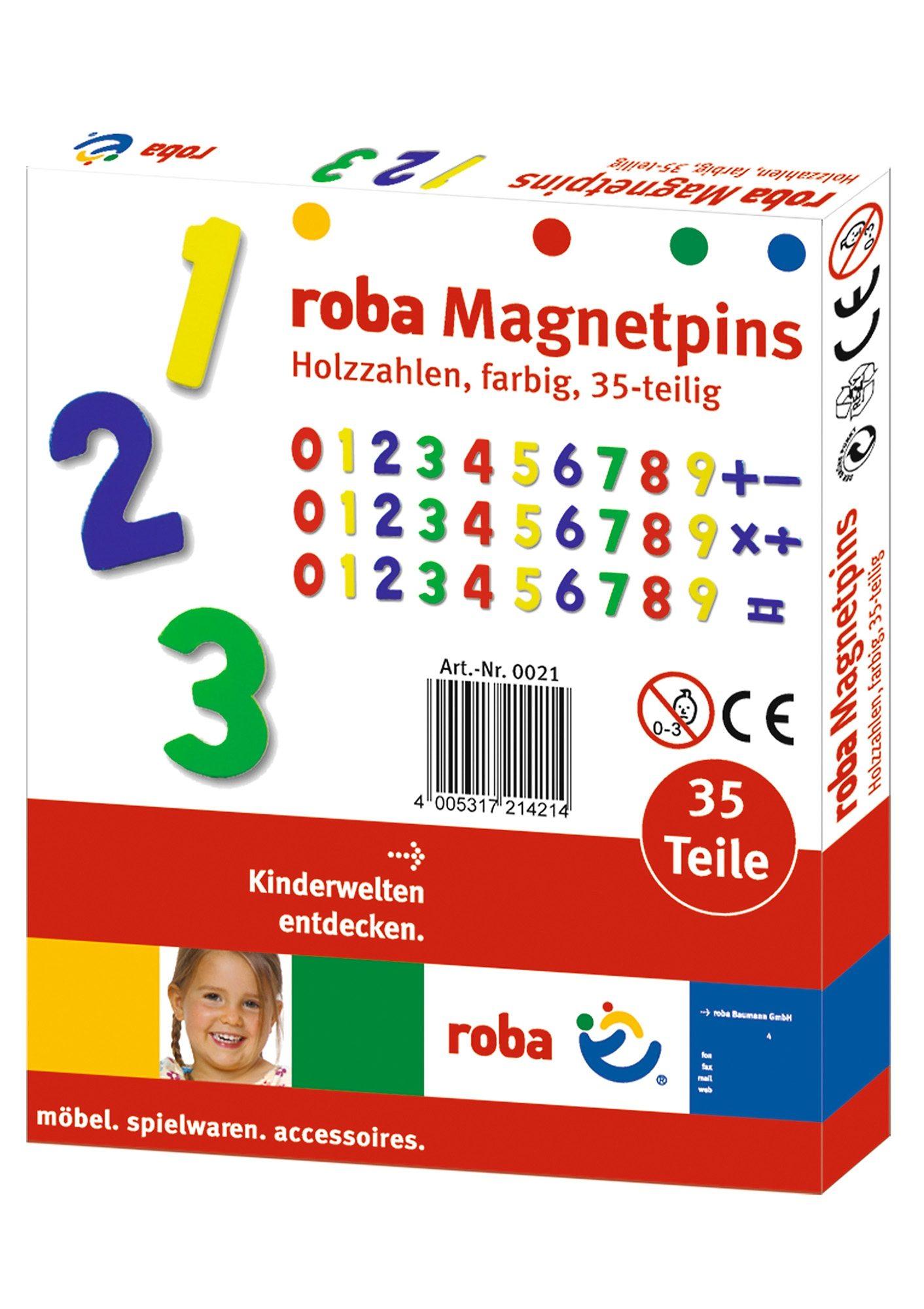 Holz-Magnetzahlen, Roba (35tlg.)