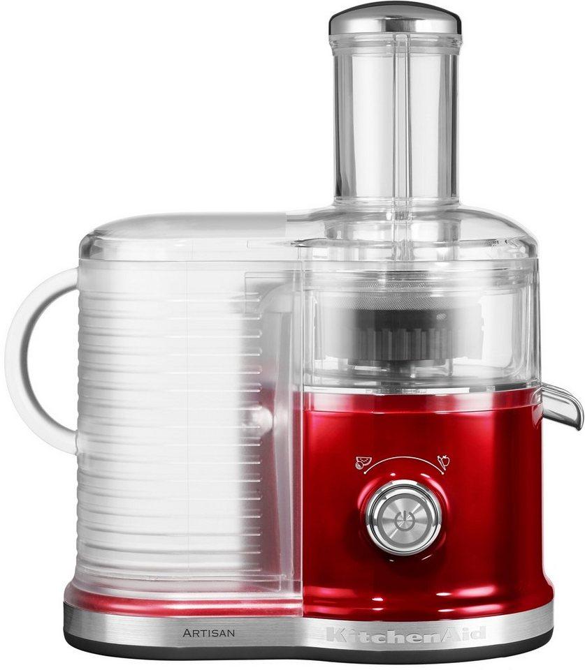 KitchenAid Artisan Zentrifugal Entsafter 5KVJ0333ECA, liebesapfelrot, 520 Watt in liebesapfelrot