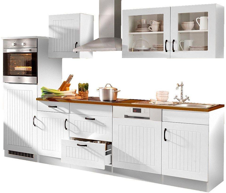 Küchenzeile, Held Möbel, »Athen«, Breite 280 cm in Weiß-Weiß