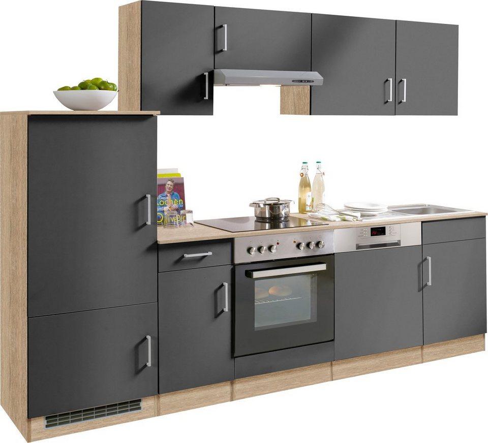 HELD MÖBEL Küchenzeile mit E-Geräten »Melbourne«, Breite 270 cm ...