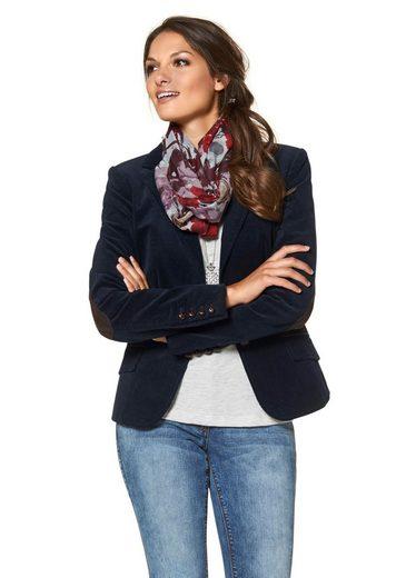 Baur Jackenblazer Aniston Ärmelpatches Lederimitat Mit By einfassungen Und 85xExqzwA