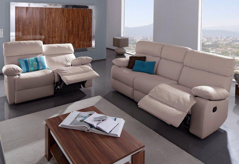 garnitur inklusive recliner funktion bestehend aus 3 und 2 sitzer online kaufen otto. Black Bedroom Furniture Sets. Home Design Ideas