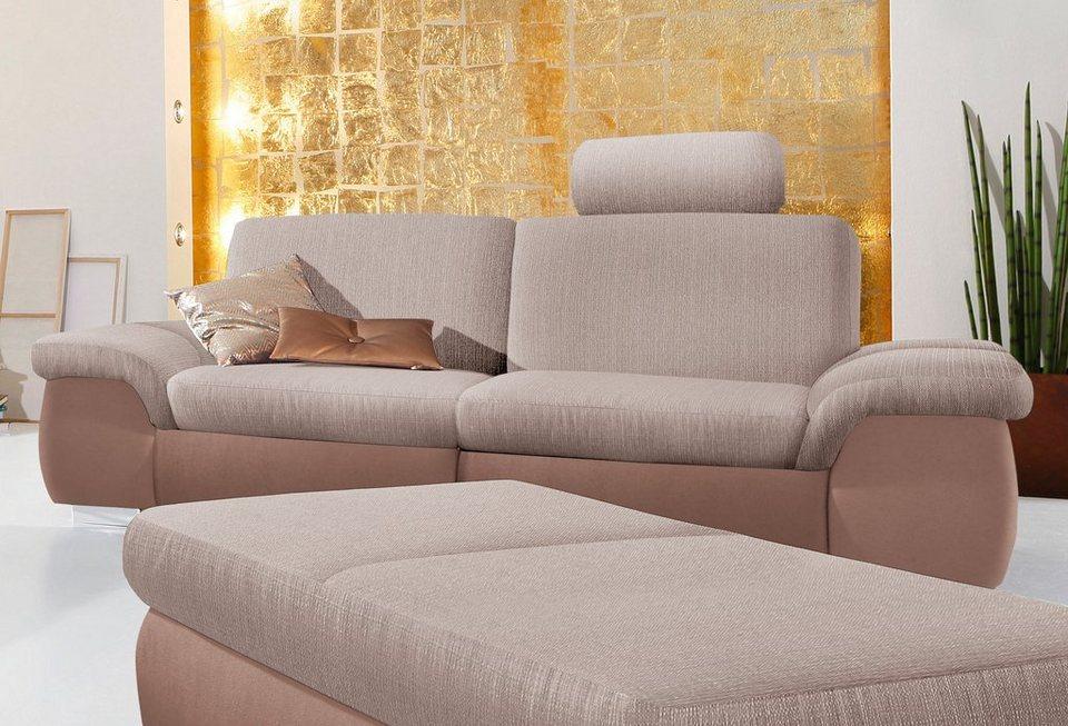 3-Sitzer, Sit & More in braun/beige