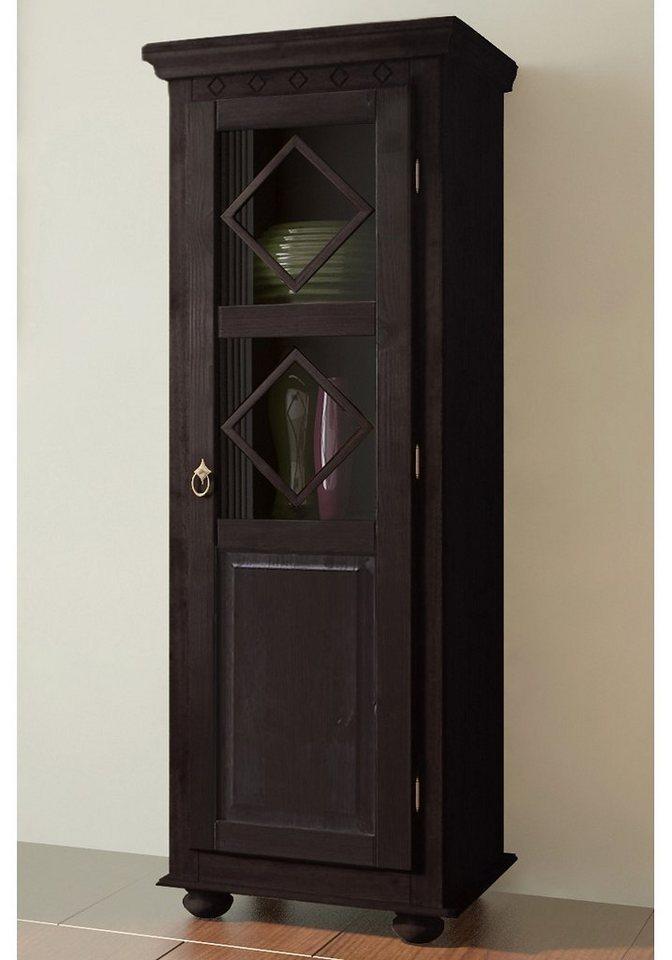 Vitrine, Home affaire, halbhoch, Höhe 147 cm in kolonialfarben