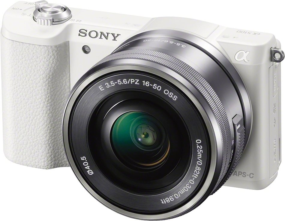 Sony Alpha ILCE-5100L System Kamera, SEL-P1650 Zoom, 24,3 Megapixel, 7,5 cm (3 Zoll) Display in weiß