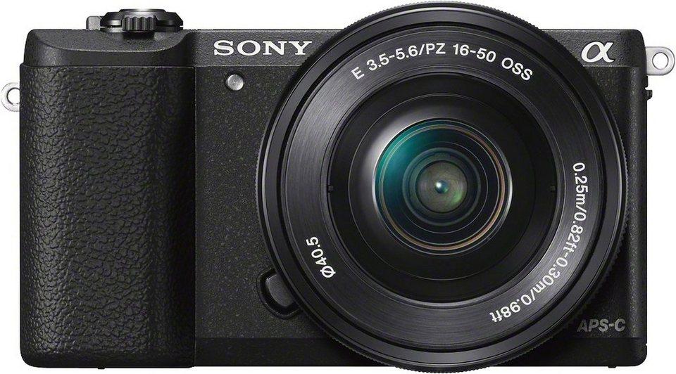 Sony Alpha ILCE-5100Y Set System Kamera, inkl. 2 SEL Objektive (16-50mm & 55-210mm), 24,3 Megapixel in schwarz