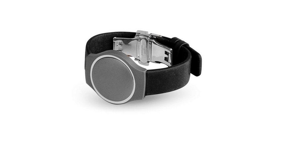 Misfit Ersatz-/Wechselarmband »Leder für Shine« in Schwarz