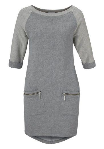 Aniston Sweatkleid, mit 3/4-langen Armen
