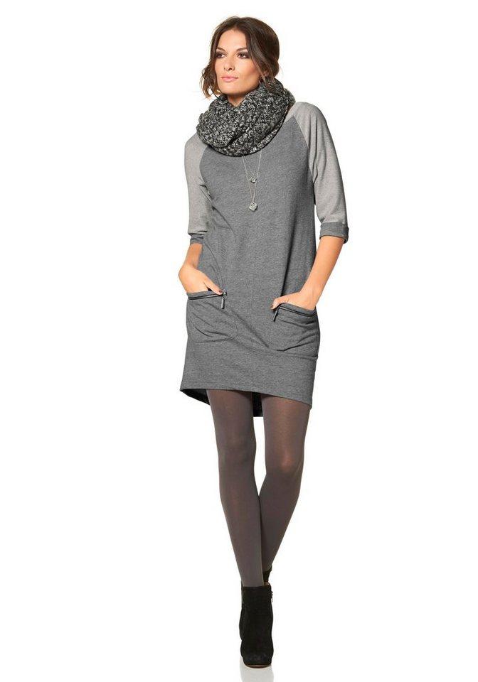 Aniston Sweatkleid in grau