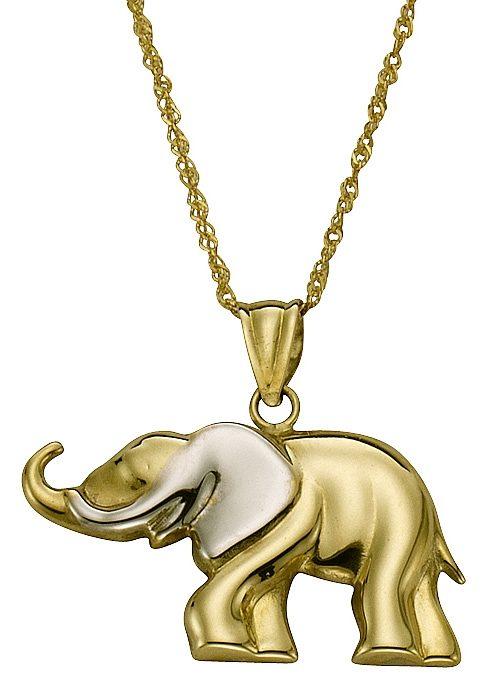 firetti Halsschmuck: Anhänger »Elefant« ohne Kette - Symbol: Stabilität, Stärke und Weisheit!