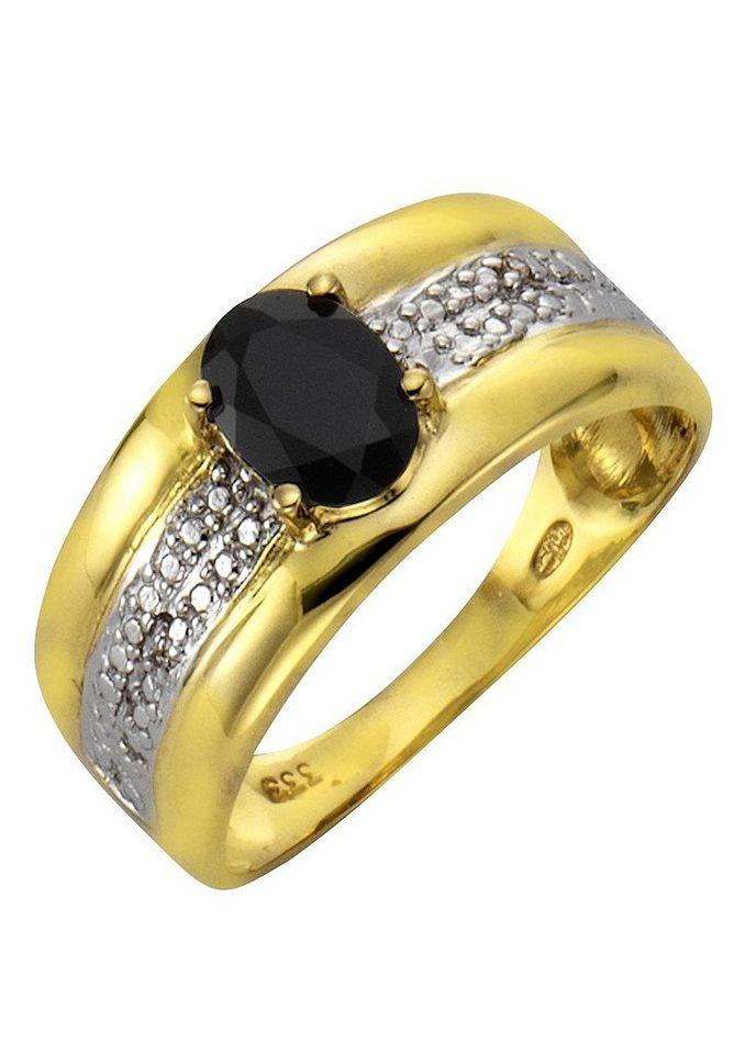 """Vivance Jewels Ring """"Safir"""" mit Diamanten in Gelbgold 333"""