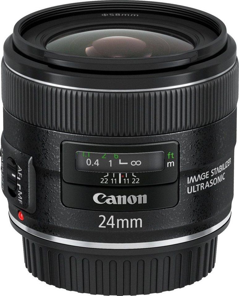 Canon EF 24mm f/2.8 IS USM Weitwinkel Objektiv in schwarz