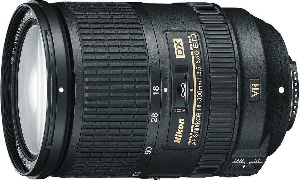 Nikon AF-S DX NIKKOR 18–300 mm 1:3,5–5,6G ED VR Standardzoom Objektiv in schwarz