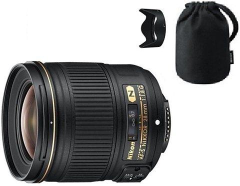 Nikon AF-S NIKKOR 28 mm 1:1,8G Weitwinkel Objektiv in schwarz