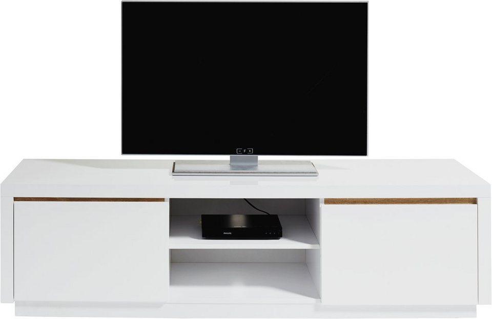 INOSIGN Lowboard, Breite 160 cm in weiß/eichefb.sägerau