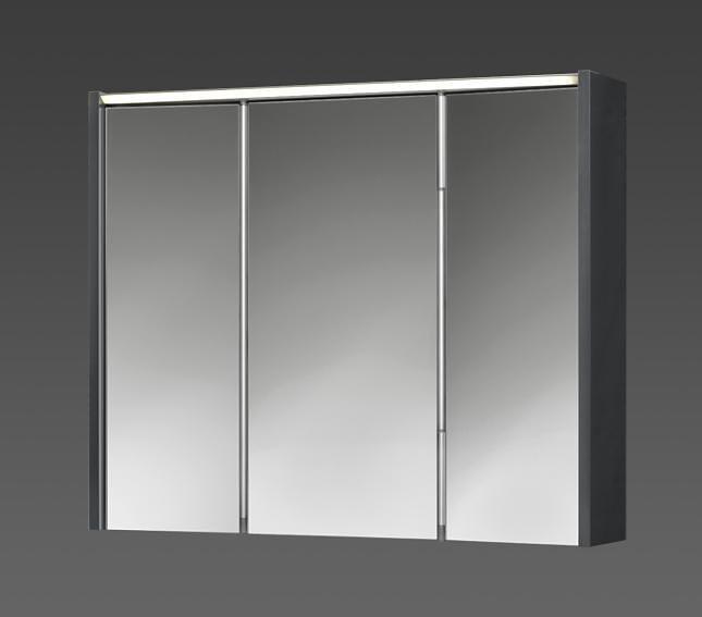 Spiegelschrank »Arbo« Breite 73 cm, mit LED-Beleuchtung in anthrazit