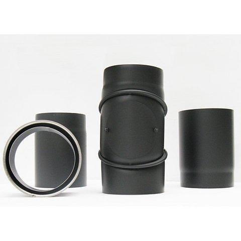 Ofenrohr-Set »ø 160mm« 4-teilig in schwarz