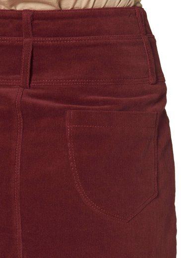 Cheer Corduroy Skirt With Slit