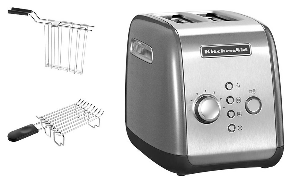 kitchenaid toaster 5kmt221ecu mit br tchenaufsatz und sandwichzange f r 2 scheiben 1100 w. Black Bedroom Furniture Sets. Home Design Ideas