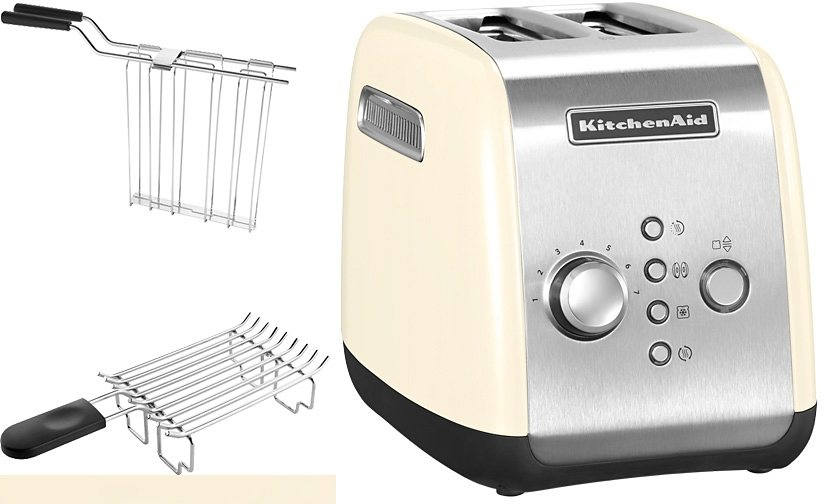 kitchenaid toaster 5kmt221eac f r 2 scheiben 1100 watt cr me online kaufen otto. Black Bedroom Furniture Sets. Home Design Ideas