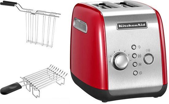 KitchenAid Toaster 5KMT221EER mit Brötchenaufsatz und Sandwichzange, für 2 Scheiben, 1100 W