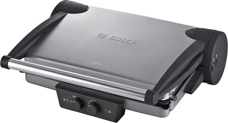 Bosch Kontaktgrill TFB4431V, 2000 Watt in smoke silver / anthrazit