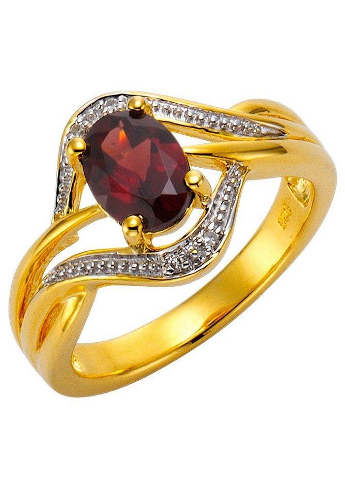 """Vivance Jewels """"Granat"""" mit Diamanten in Silber 925/bicolor"""