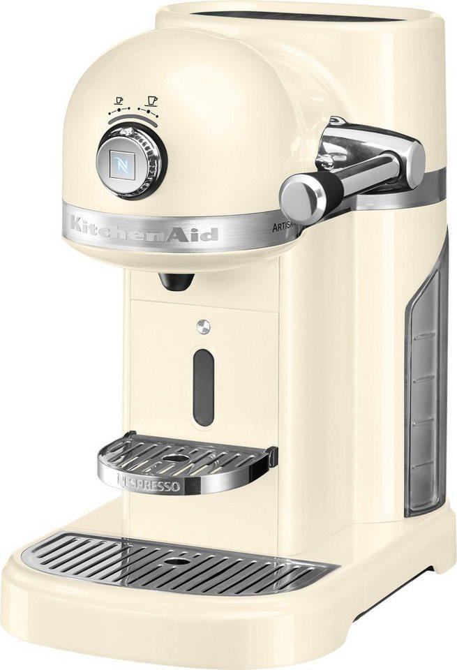 Kitchenaid Kapselmaschine Nespresso 5KES0503EAC crème, 19 Bar in crème