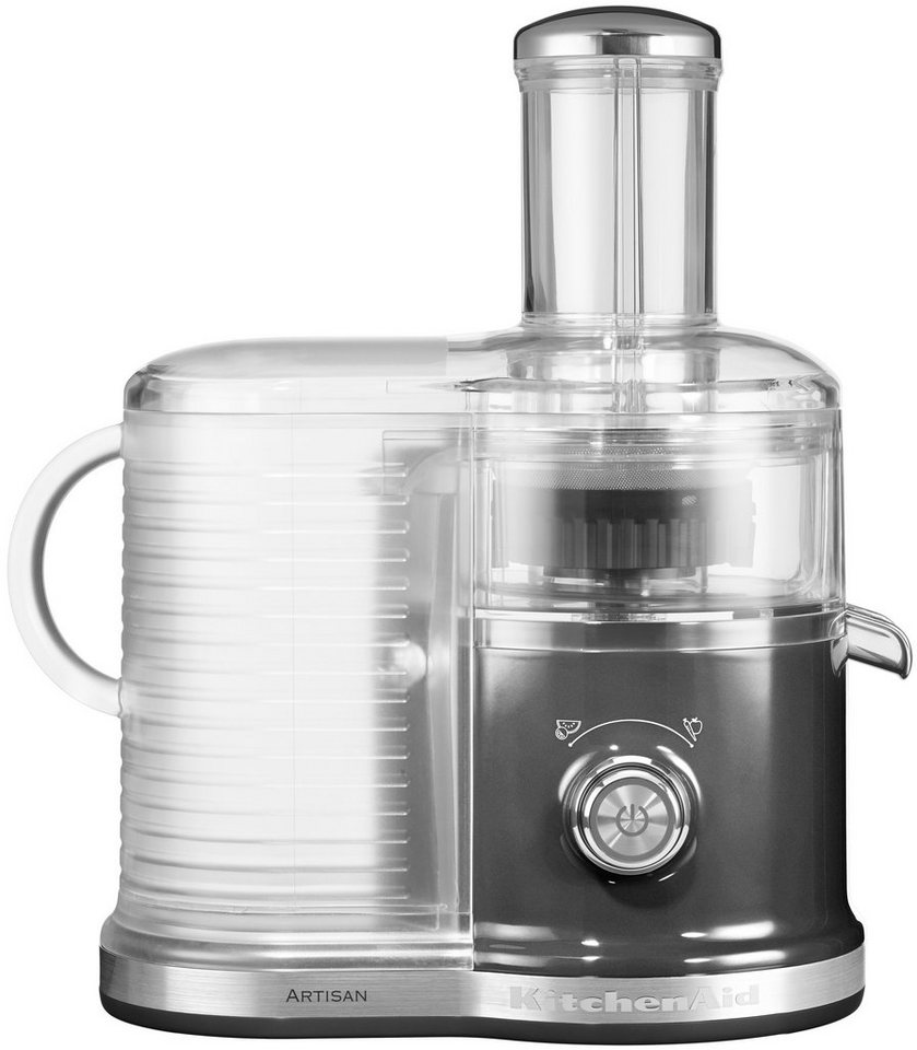 KitchenAid Artisan Zentrifugal Entsafter 5KVJ0333EMS, medallion silber, 520 Watt in medallion silber